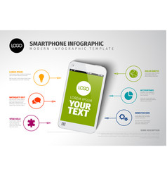 smart phone infographic template vector image