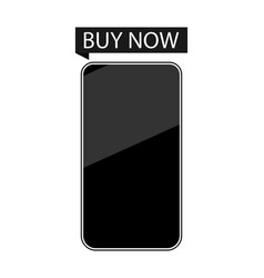 smartphone buy now isolated on white background vector image