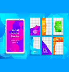 social media stories template vector image