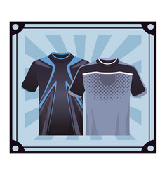 Sport tshirt for male vector