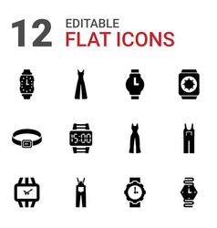 Strap icons vector
