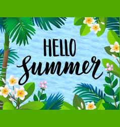 Summer banner template vector