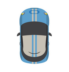 top view vehicle vector image