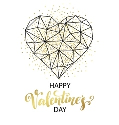 Valentines day love greeting card with geometric vector image