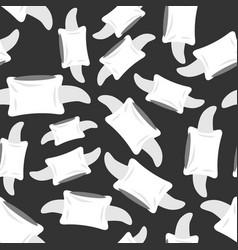 Vertebra seamless pattern bone spine ornament vector
