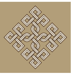 viking decorative knot - engraved - rings square vector image