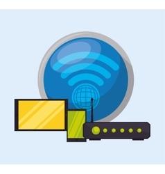 Wifi design vector image