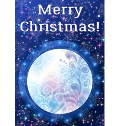 Window with Christmas Background vector