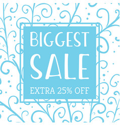 winter mobile banner sale vector image
