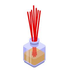 Zen sticks diffuser icon isometric style vector
