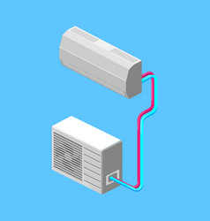 air conditioner isometric vector image