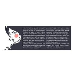 beauty banner vector image