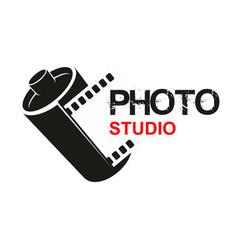 Photo studio camera film icon vector
