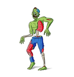 Zombie man colorful vector image vector image