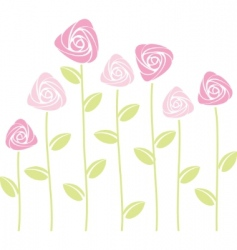 abstract roses vector image