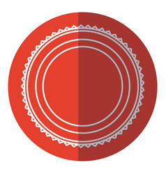 badge label decoration stamp template red circle vector image vector image