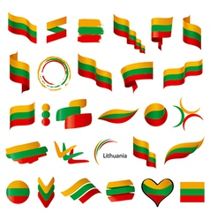 biggest collection of flags of Lithuania vector image