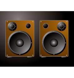 golden speakers vector image vector image
