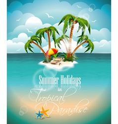 on a summer holiday theme with paradi vector image vector image