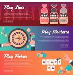 Casino Banner Set vector image