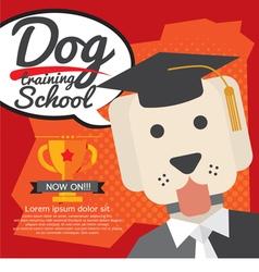 Dog training school vector