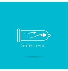 Icon sperm in a condom vector image
