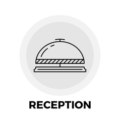 Reception Line Icon vector image