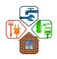House renovation design vector