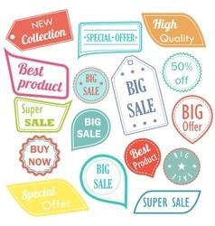 Modern flat design sale stickers Sale hipster vector image vector image