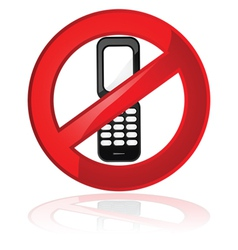 no cell phones vector image vector image