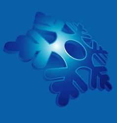 snowflake blue vector image