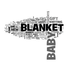 a knit blanket is one best bagifts text vector image
