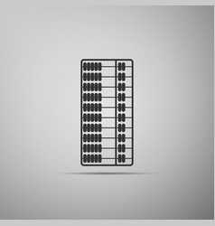 abacus icon isolated on grey background vector image