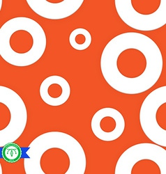 Abstract Seamless Circles Pattern vector image