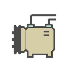 Air conditioner and compressor part icon vector