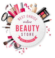 Beauty store emblem vector