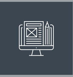 blog management icon vector image