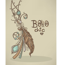 Boho background vector