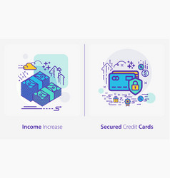 business and finance concept icons income vector image