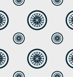 Casino roulette wheel icon sign Seamless pattern vector