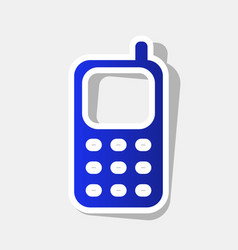 cell phone sign new year bluish icon with vector image