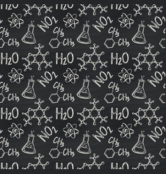 chemical seamless pattern vector image
