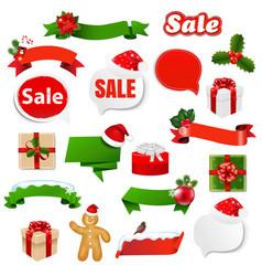 Christmas ribbon set vector