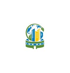 City stadium design template vector