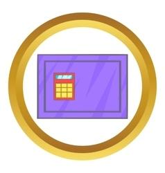 Closed safe icon vector