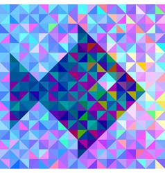 Color Background with Stylised Fish vector image