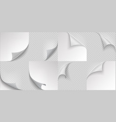curled page corners flipped and turning paper vector image