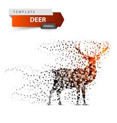 deer dot on white background vector image