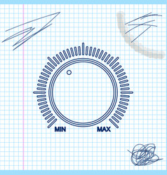 Dial knob level technology settings line sketch vector