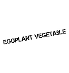 Eggplant Vegetable rubber stamp vector